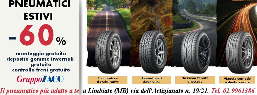 Pneumatici estivi in promozione da Gruppo Zago a Bovisio Masciao