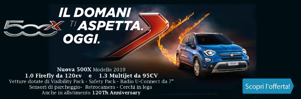 Fiat 500X in promozione da Gruppo Zago a Bovisio Masciago