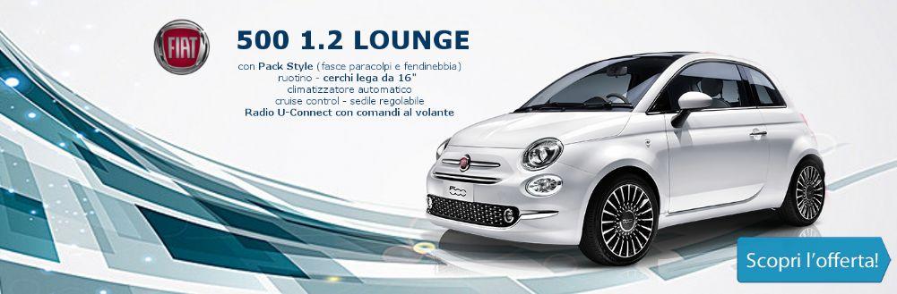 Fiat 500 Lounge in promozione da Gruppo Zago a Boviso Masciago