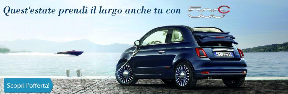 Prendi il largo con Fiat 500C. Da Gruppo Zago scontatissima!