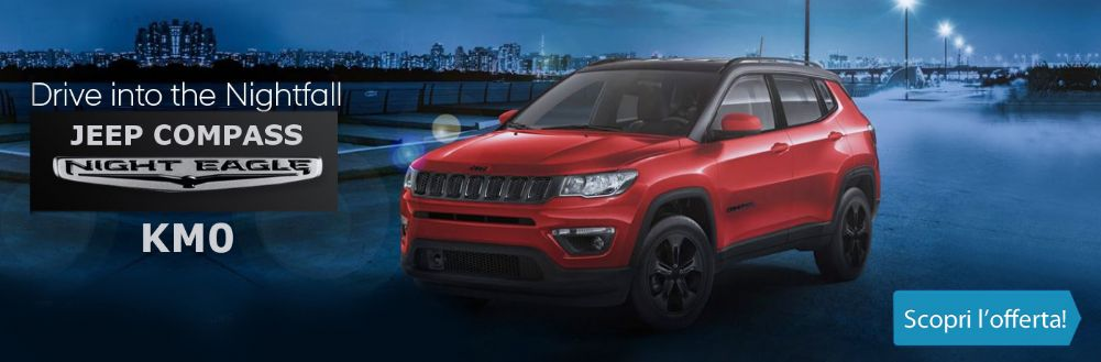 Jeep Compass Night Eagle. Da Gruppo Zago super accessoriata KM0