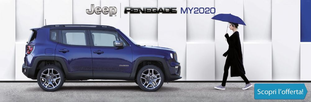 Jeep Renegade Limited MY20 già disponibile KM0 da Gruppo Zago